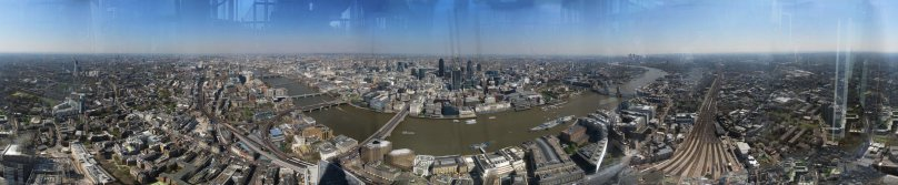 360 pano from the top of The Shard