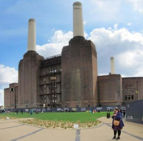 Battersea Power Station and pop-up park for Chelsea Fringe
