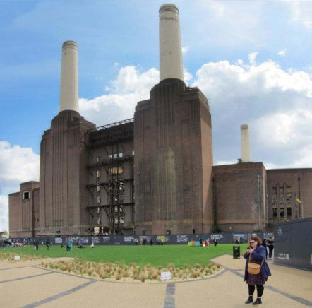 Battersea Power Station and pop-up park for Chelsea Fringe