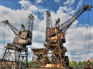 Stothert & Pitt dock cranes