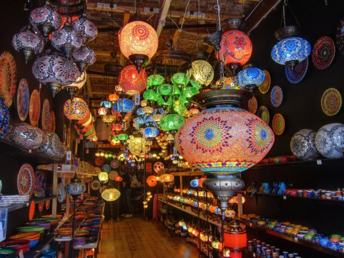 Turkish light shop, Camden Stables Market