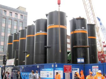 Train station building site on Oxford St