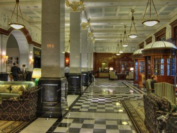 The Savoy refurbished foyer