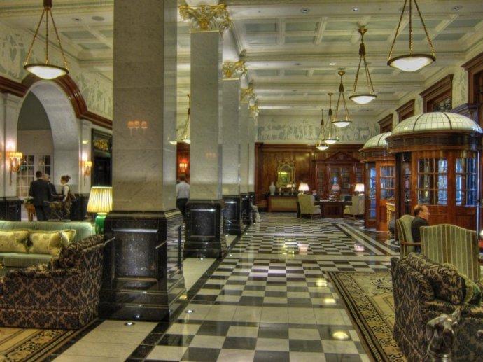 The Savoy refurbished foyer