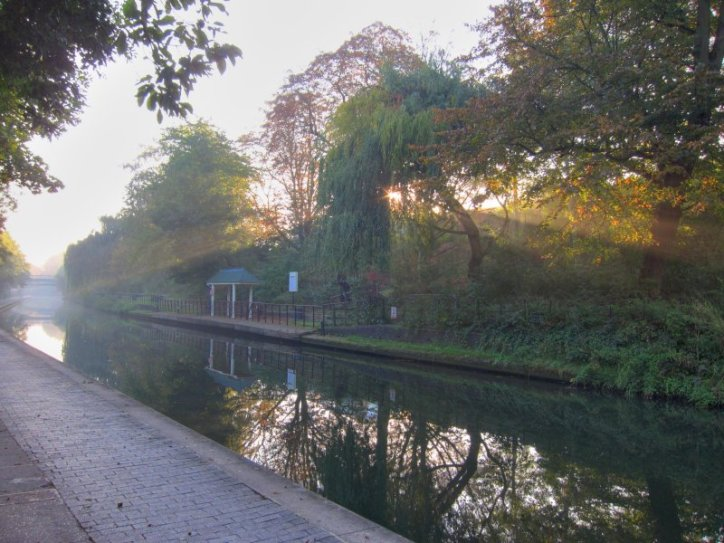 Morning mist on the canal