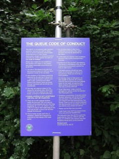 queueing code of conduct