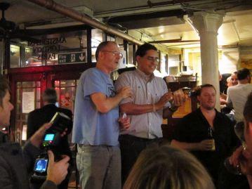 Tomas Estes (tequila ambassador to Europe) & Julio Bermejo (tequila ambassador to US) & Dos Siglos
