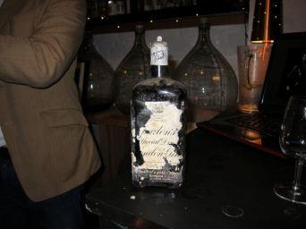 An unopened 1911 bottle of Gordon's gin