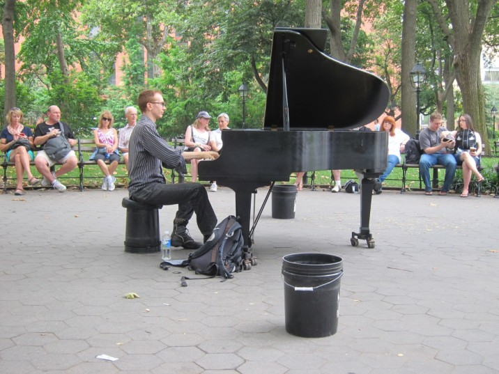 Live music in Washington Square Park