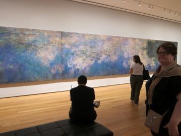 Michelle admiring Monet's water lilies