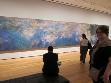 Michelle admiring Monet's water lilies