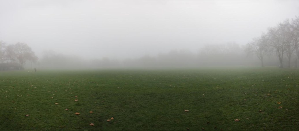 Misty morning in Paddington Recreation Ground
