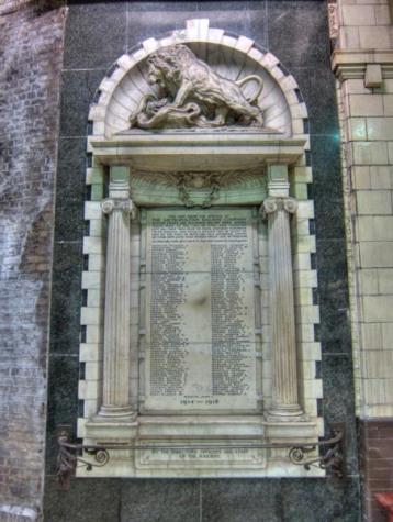 WWI memorial in Baker Street underground station