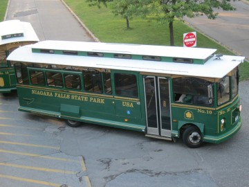 There's a trolley that goes around in a loop and only costs $2 for a day pass