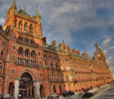 St. Pancras station and the Renaissance Hotel