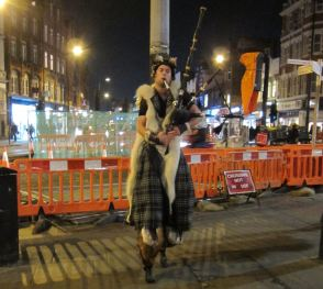 Busker in Camden with faun legs