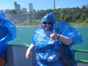 Michelle on Maid of the Mist