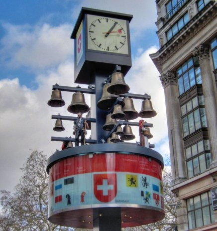 Restored swiss clock @ Leicester Square