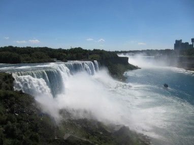 American Falls, Bridal Veil Falls, Horseshoe Falls from viewing platform