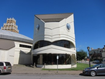 Eagle faced building