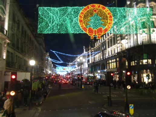 Christmas lights @ Regent Street