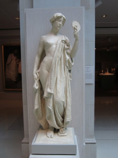 Plaster sculpture from 1900 predicting the invention of the DVD