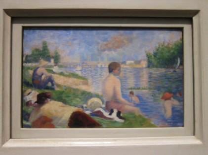 Miniature of Seurat's bathers