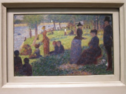 Miniature of Seurat's Sunday Afternoon on the Island of La Grand Jatte