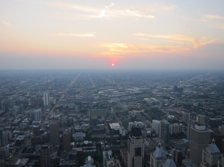 View of sunset from Signature Lounge