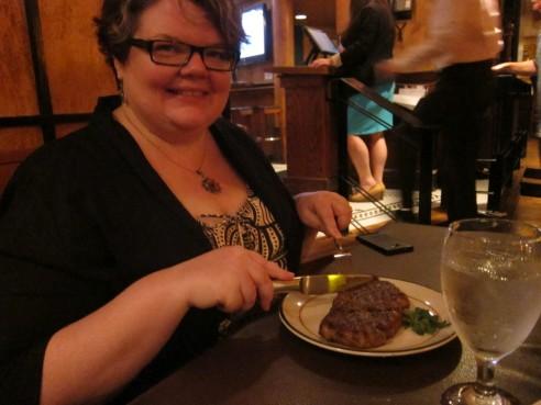 Wagu steak at Saloon Steakhouse