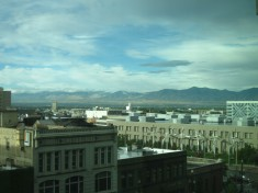 View from hotel room in SLC