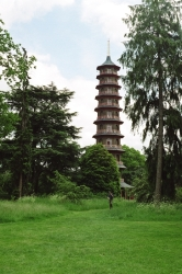 The pagoda at Kew. Its been refurbished a bit but there was a complicated ticketing system to be allowed to go up in it so we didn't bother.