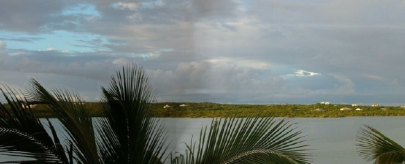 Here's the the view over Flamingo Lake