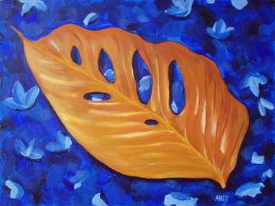 Exotic Leaf (40x30cm acrylic February 2008)