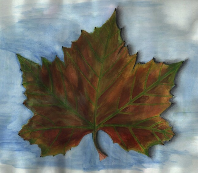Leaf (40x30cm water colour 2003)