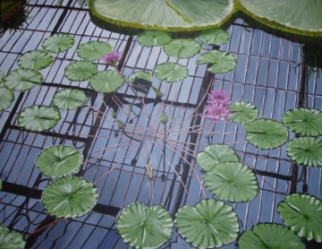 Lily House at Kew (65x50cm acrylic October 2007)