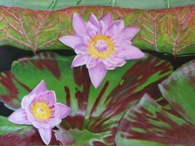 Lilies at Kew (50x40cm acrylic May 2005)