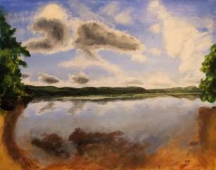 Loch Venachar (65x50cm acrylic November 2009)