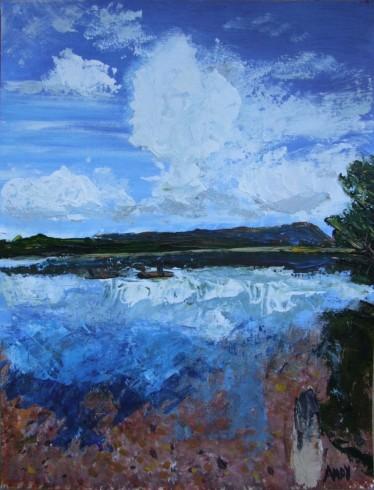 Loch Venachar (30x40cm acrylic October 2009)