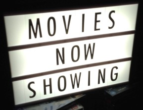 New signage for the cinema room.
