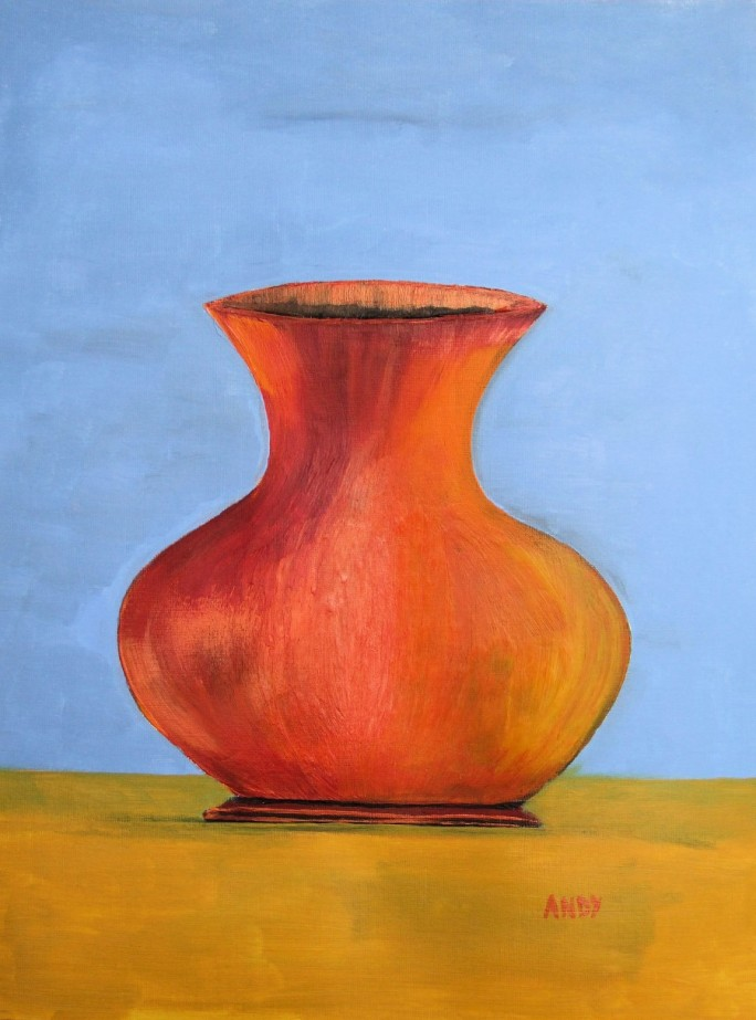 Orange Vase (30x40cm acrylic February 2008)
