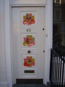 Funky door in Primrose Hill