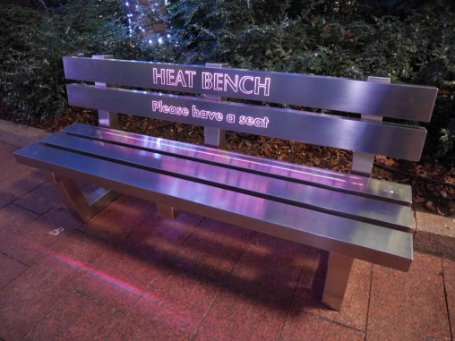 Bench that cooks your backside!