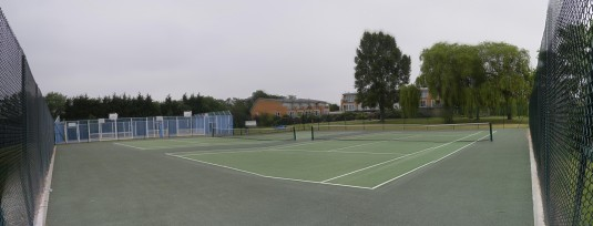 Tennis courts restored