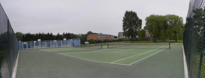 Tennis courts restored