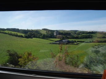 On the train to Edinburgh