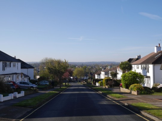 Epsom Downs from half way up our hill