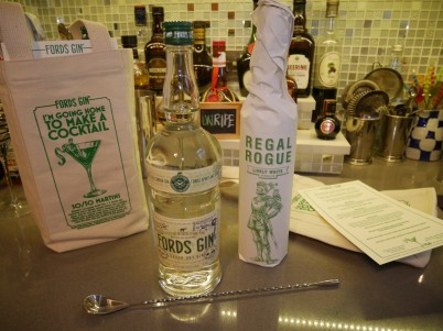 Cool goodie-bags from Fords Gin