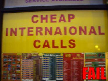 International FAIL