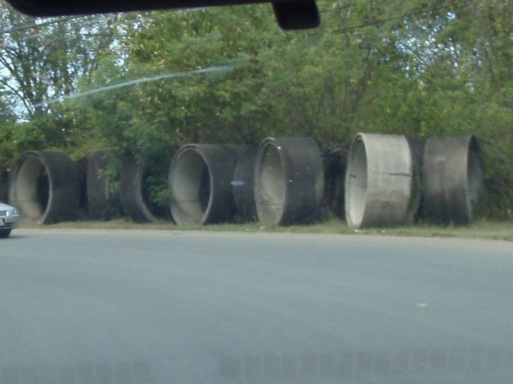 Roadside art installation